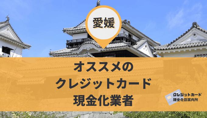 愛媛のクレジットカード現金化
