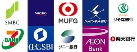 買取本舗の振り込み可能な金融機関