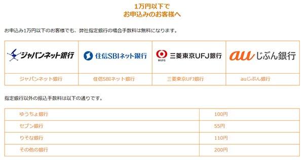 西日本eチケットの振り込み可能な金融機関