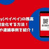 PayPay(ペイペイ)の残高を現金化する方法!手数料や逮捕事例を紹介!